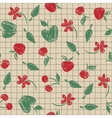 Seamless pattern sketch with fruit and berries vector image vector image