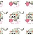 seamless pattern tile cartoon with kitten vector image