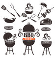 set of elements on a theme of barbecue vector image