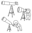 set of telescope vector image