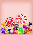 template different sweets colorful background set vector image vector image