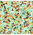 triangle multicolor mosaic background vector image