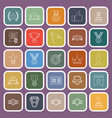 victory line flat icons on purple background vector image vector image