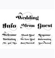 Wedding invitation wording calligraphy with vector image