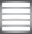 white banners with different shadows vector image vector image