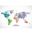 world map design Triangle pattern vector image vector image