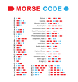 morse code vector image
