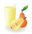 pear juice vector image