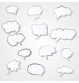 Set of comic 3d speech bubbles icon Thought vector image
