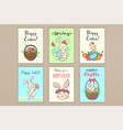 set of easter greeting cards vector image