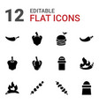 12 pepper icons vector image vector image