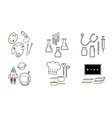6 occupation icons vector image vector image