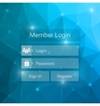 Abstract creative concept member login form vector image vector image