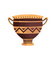 ancient ornamented vase with handles hellenic vector image vector image