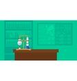 Background of chemistry laboratory vector image