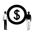 businessmen with dollar coin money vector image vector image