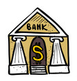 cartoon image of bank icon government symbol vector image vector image