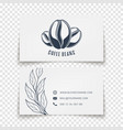coffee beans logo design busies card template vector image vector image