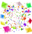 confetti blast in different directions vector image vector image