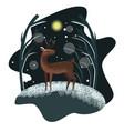 cute childish deer vector image vector image