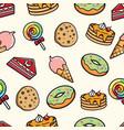 Cute sweet desert seamless pattern