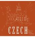 Czech landmarks vector image