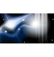 Digital abstract cosmic dark blue vector image vector image