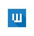 digital letter w logo vector image vector image