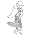 doubles brazilian dance woman and man dancing zen vector image