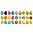easter eggs spring colorful chocolate egg cute vector image vector image