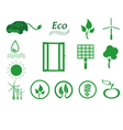 Ecology icon set Eco icons vector image