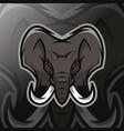elephant mascot logo esport vector image vector image