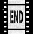 end film strip vector image