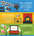 film production banner horizontal set flat style vector image