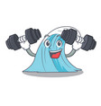 fitness wave character cartoon style vector image
