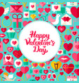 flat valentines day greeting vector image vector image