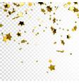 flying glittering gold stars vector image