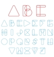 Font ABC in geometric style vector image vector image