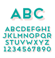 font grotesque 3d solid bold vector image