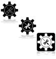 Gear fix tools vector image vector image
