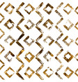 geometric hand drawn golden seamless pattern vector image vector image