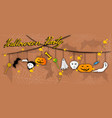 ghost monsters and evils hanging on halloween bac vector image