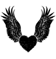 heart angle wing vector image