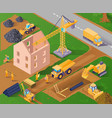 isometric construction vector image vector image