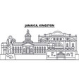 jamaica kingston line skyline vector image vector image