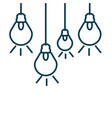 light bulbs hanging isolated icon vector image vector image