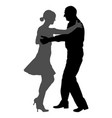 mature tango dancing couple silhouette vector image vector image