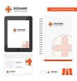 medical business logo tab app diary pvc employee vector image vector image
