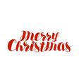 merry christmas text xmas holiday symbol hand vector image vector image