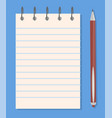 notepad and pencil templates colorful banner vector image